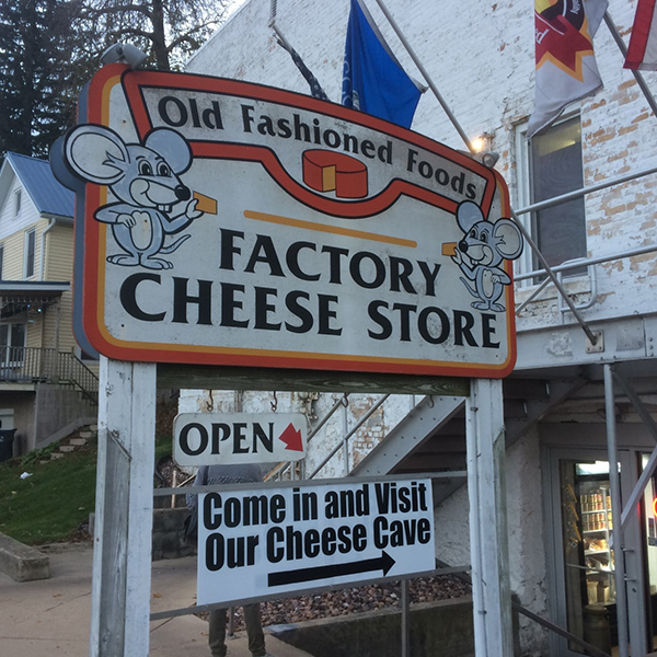 cheese factory sign